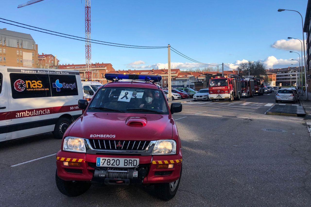 Última caravana de los cuerpos de seguridad