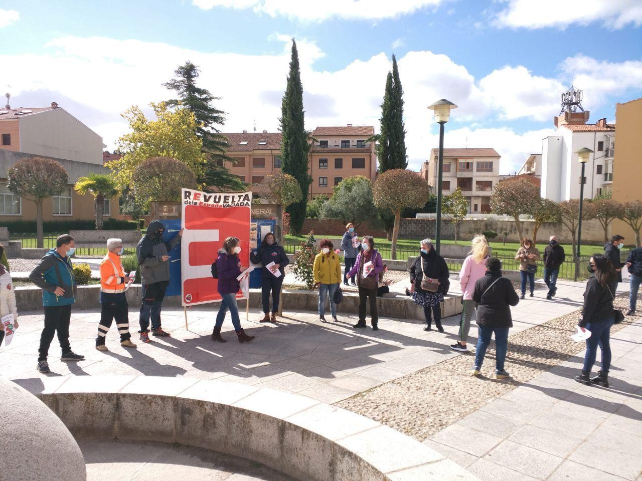 Concentración en centros de salud de Soria