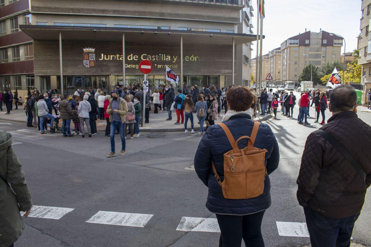Concentración frente a la Delegación en Soria