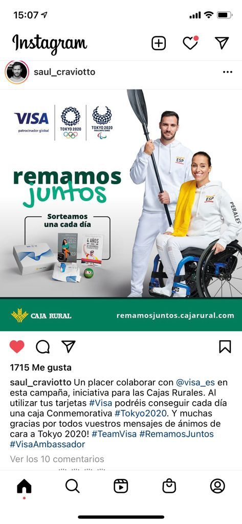 isa y Caja Rural de Soria se preparan para los Juegos Olímpicos y Paralímpicos Tokyo 2020 de la mano de Teresa Perales y Saúl Craviotto.
