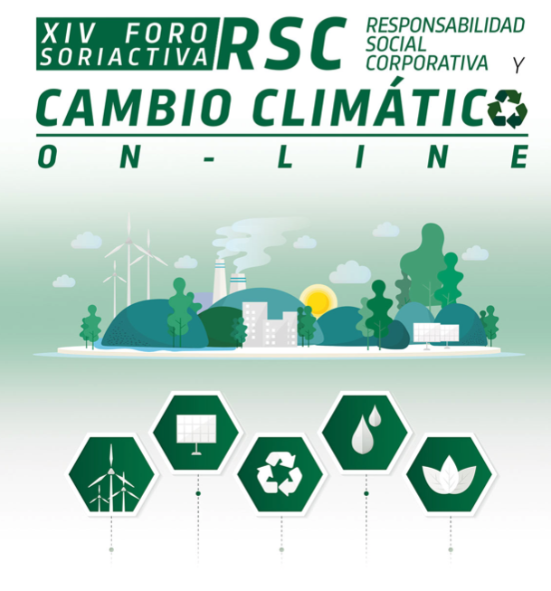 XIV FORO SORIACTIVA 2020 on line sobre Responsabilidad social corporativa, cambio climático y despoblación