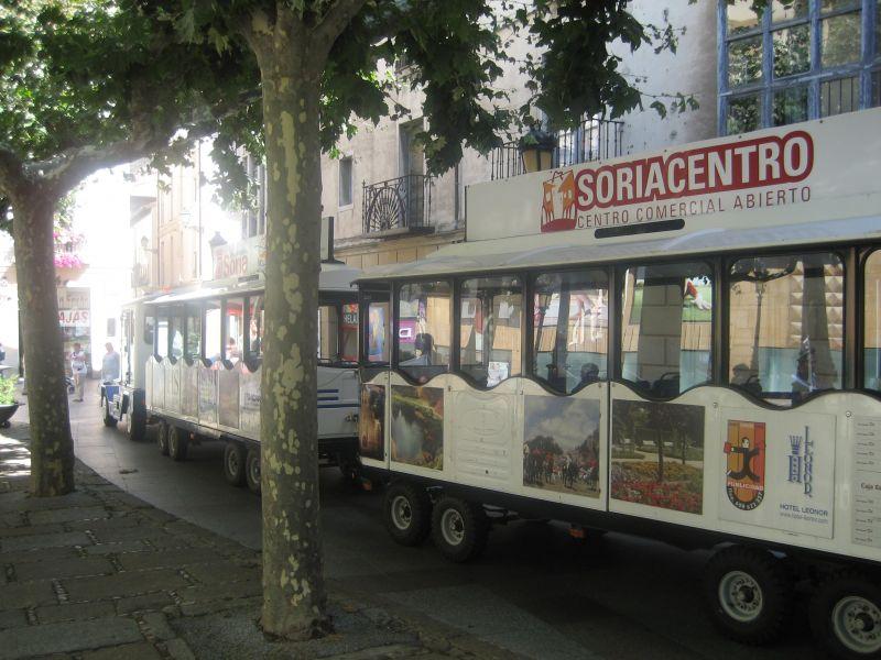 Los establecimientos de Soriacentro regalan billetes infantiles del Tren Turístico Ciudad de Soria
