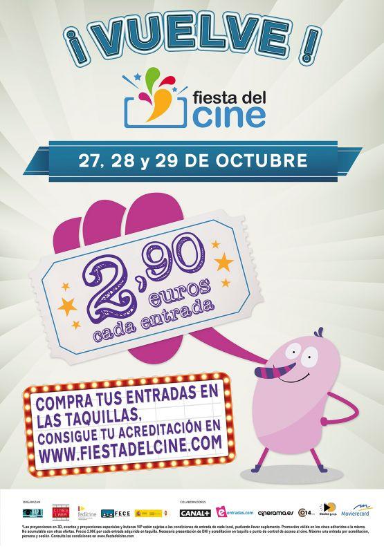 Vuelve la Fiesta del Cine los días 27, 28 y 29 de Octubre