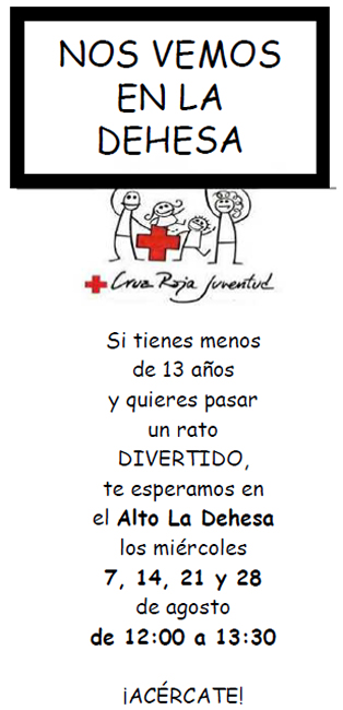 Cruz Roja Juventud de Soria te espera este verano en la Dehesa.