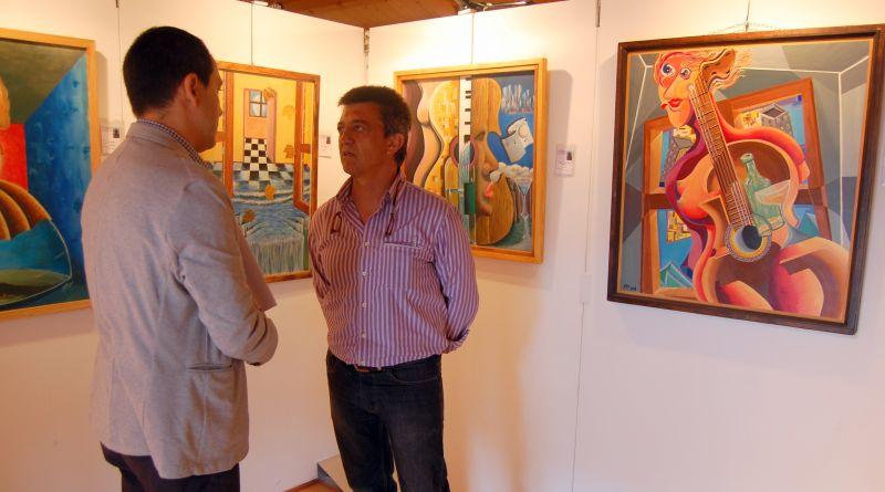 El Centro de Recepción de Visitantes junto al Duero acoge una exposición del artista Pedro Pérez Parra