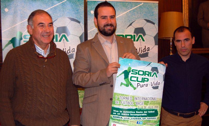 Ayuntamiento y Calasanz colaboran para la celebración de la I Soria Cup internacional para equipos de fútbol infantil y alevín