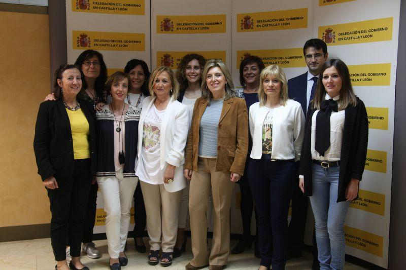 La delegada del Gobierno en Castilla y León preside una reunión de coordinación de las nueve Unidades contra la Violencia de Género de la Administración General del Estado en la región