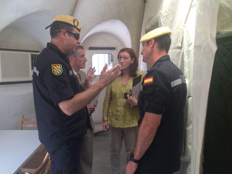 El Regimiento de Apoyo e Intervención en Emergencias de la la UME realiza maniobras en Soria.