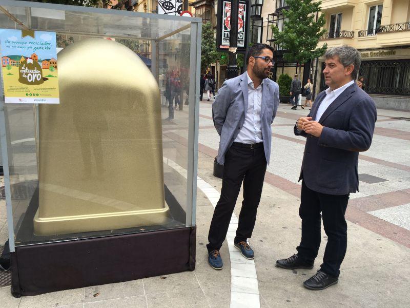 Soria luce su 'contenedor de oro' al convertirse en la capital de provincia de Castilla y León con mejores cifras del ranking de Ecovidrio