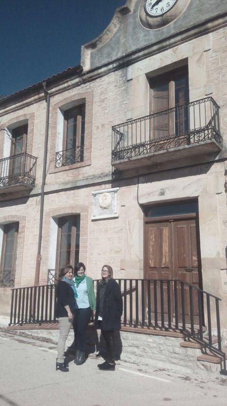 La vicepresidenta de la Diputación de Soria visita las obras de Planes Provinciales de Muriel de la Fuente