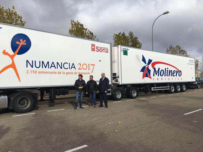 """Camiones articulados del Grupo De Pedro Molinero """"venderán"""" Numancia 2017 en la red nacional de carreteras"""