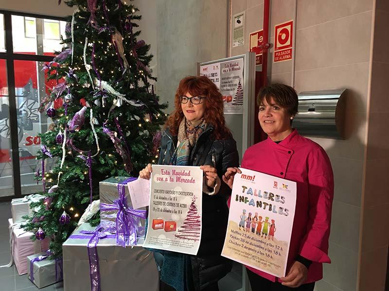 El mercado municipal se quiere convertir en un punto de encuentro esta Navidad con música, chocolatada y talleres para adultos y niños