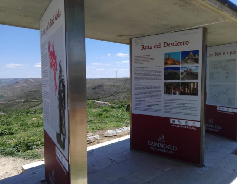 La Diputación de Soria destina 5.000 euros a la reparación y sustitución de varios paneles informativos del Camino del Cid en la zona de Medinaceli