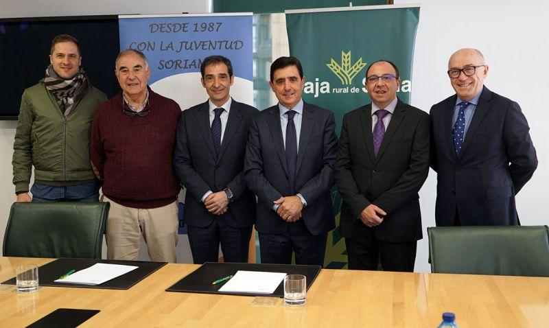 Caja Rural de Soria y el CD. Calasanz de Soria firman un convenio de colaboración para 2019