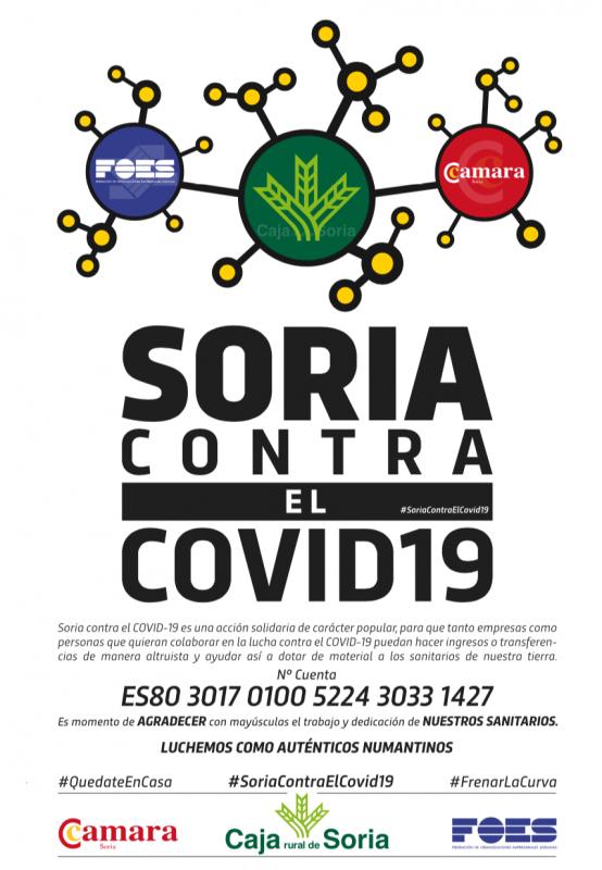 Caja Rural, FOES y la Cámara de Comercio lanzan la acción solidaria: SORIA CONTRA EL COVID-19